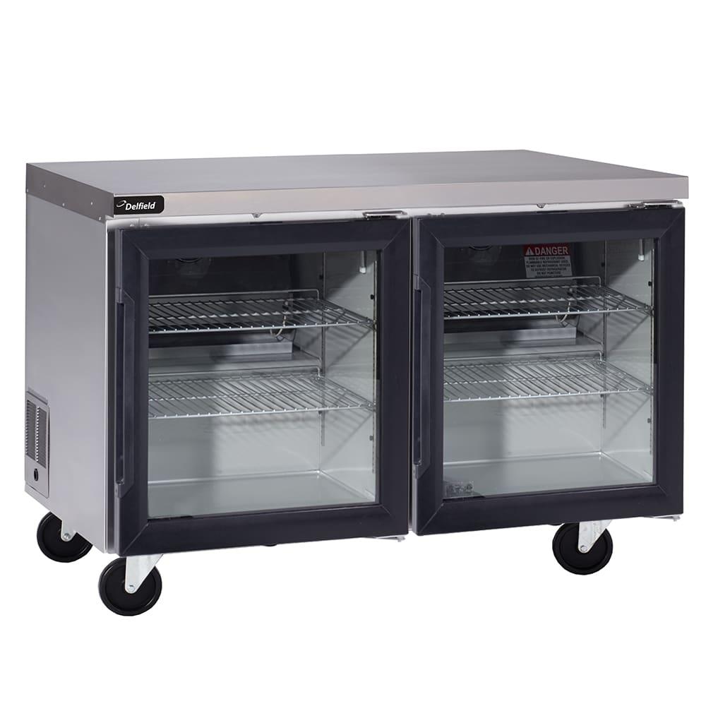 "Delfield GUR48P-G 48"" Worktop Refrigerator w/ (2) Sections, 115v"