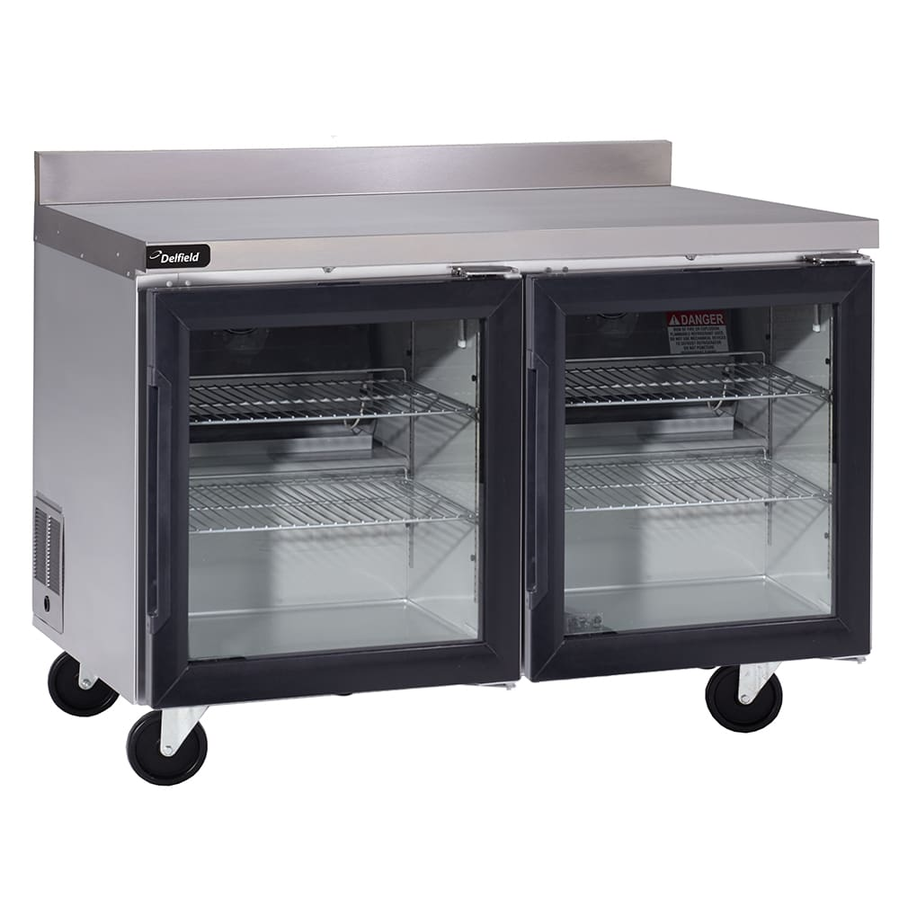 "Delfield GUR60BP-G 60"" Worktop Refrigerator w/ (2) Sections, 115v"