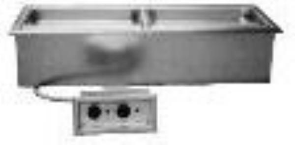 Delfield N8746N Drop-In Hot Food Well Unit, 2 Pan Size, Narrow
