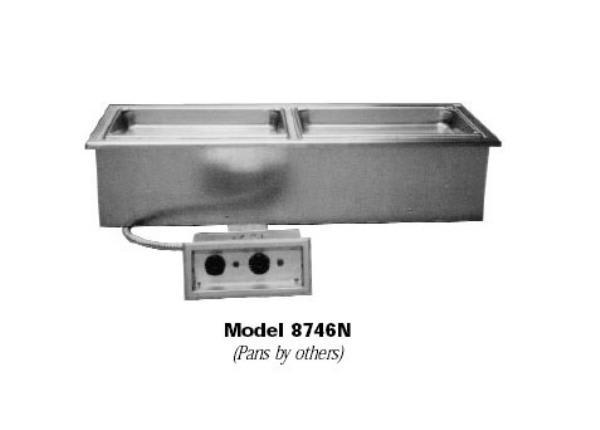 Delfield N8768N Drop-In Hot Food Well w/ (3) Full Size Pan Capacity, 208-230v/1ph