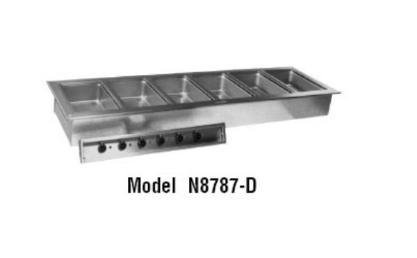 Delfield N8787-D Drop-In Hot Food Well w/ (6) Full Size Pan Capacity, 208-230v/1ph