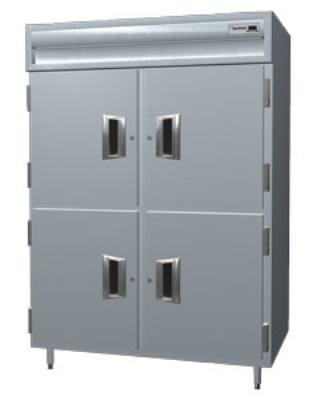 Delfield SAH2N-SH Double Reach-In Hot Food Cabinet w/ Half Solid, 43.92-cu ft, 120-208/230V