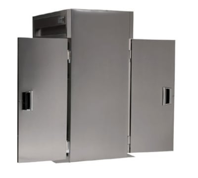 Delfield SAHRT2-S Double Roll-Thru Hot Food Cabinet w/ Full Solid, 79.74-cu ft, 120/208-230V