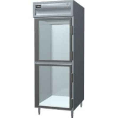 "Delfield SARPT1-GHSH 29"" Single Section Pass-Thru Refrigerator, (2) Glass Door, 115v"