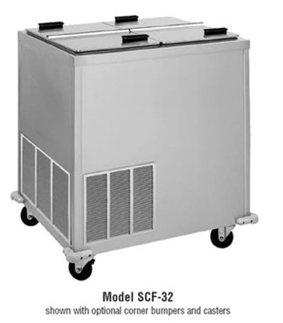 Delfield SCF-48 48-in Ice Cream Dispenser w/ Insulated Lid & Self-Leveling Mechanisms, 115v