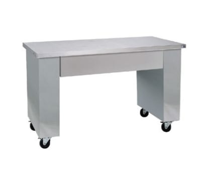 Delfield SCN-68 68-in Open Base All Purpose Counter w/ Apron, Casters, Stainless