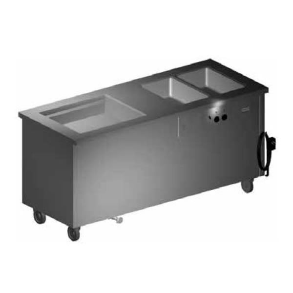 "Delfield SHC-74-NU 74"" Hot/Cold Portable Buffet w/ (1) 7"" Iced Section & (1) Hot Well, 120v"