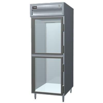 Delfield SMH1-GH Single Reach-In Hot Food Cabinet w/ Half Glass Doors, 24.96-cu ft