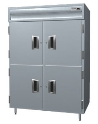 Delfield SMH2-SH 2-Section Reach-In Hot Food Cabinet w/ Half Solid, 51.92-cu ft, 120/208-230V