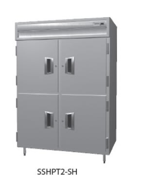 Delfield SMHPT2-SH 2-Section Pass-Thru Hot Food Cabinet w/ Half Solid, 51.92-cu ft, 120/208-230V