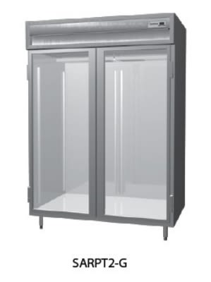"Delfield SMRPT2-GS 56"" Two Section Pass-Thru Refrigerator, (2) Glass Door, 115v"