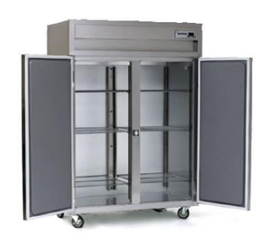 Delfield SSH2N-SH 2-Section Narrow Reach-In Hot Food Cabinet w/ Half Solid Door, 43.94-cu ft