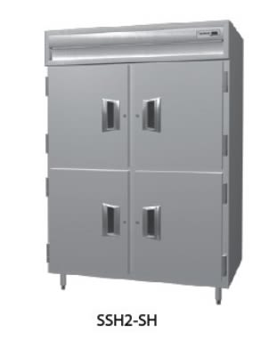 Delfield SSH3-SH 3-Section Reach-In Hot Food Cabinet w/ Half Solid Door, 78.89-cu ft