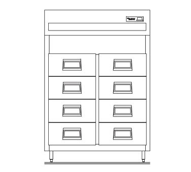 """Delfield SSRFF2-S 56"""" Two Section Reach-In Fish Drawer, (8) Drawers, 115v"""