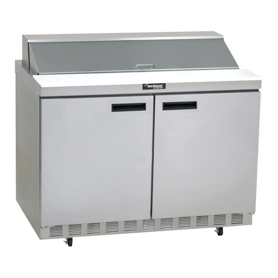 "Delfield ST4448N-8 48"" Sandwich/Salad Prep Table w/ Refrigerated Base, 115v"