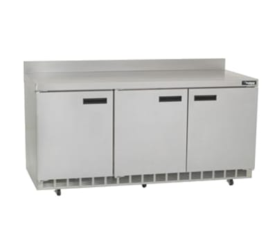 """Delfield ST4472N 72"""" Work Top Refrigerator w/ (3) Sections, 115v"""