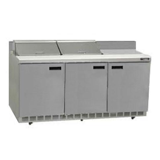 "Delfield ST4472N-12 72"" Sandwich/Salad Prep Table w/ Refrigerated Base, 115v"