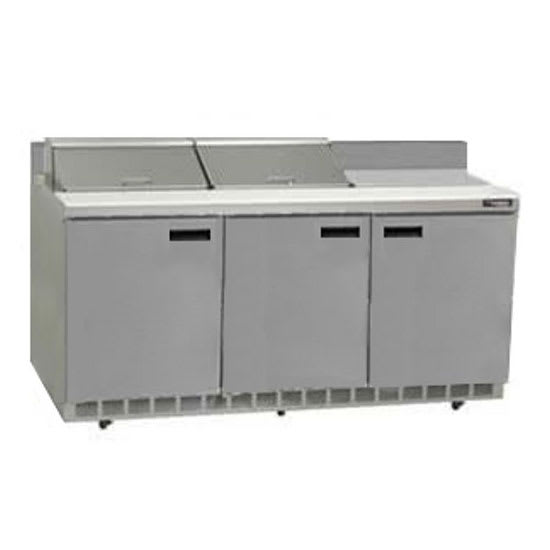 "Delfield ST4472N-18M 72"" Sandwich/Salad Prep Table w/ Refrigerated Base, 115v"