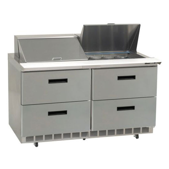 "Delfield STD4460N-18M 60"" Sandwich/Salad Prep Table w/ Refrigerated Base, 115v"