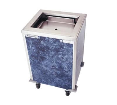 Delfield T-2020 Enclosed Mobile Tray Dispenser w/ Self-Leveling Platform, For 20 x 21-in