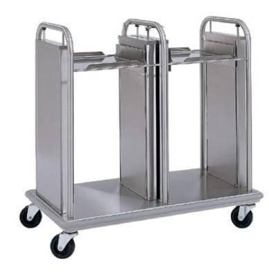 "Delfield TT2-2020 Dual Open Frame Tray Dispenser w/ Self-Elevating for 20 x 21"""