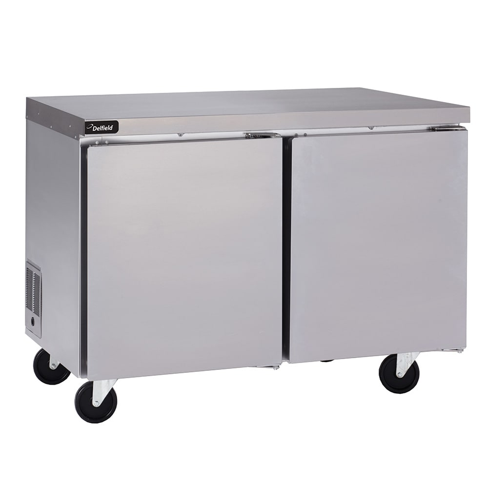 Delfield UC4460N 20.2-cu ft Undercounter Refrigerator w/ (2) Sections & (2) Doors, 115v