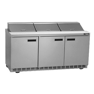"Delfield UC4472N-12 72"" Sandwich/Salad Prep Table w/ Refrigerated Base, 115v"