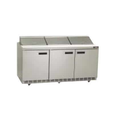 "Delfield UCD4472N-12 72"" Sandwich/Salad Prep Table w/ Refrigerated Base, 115v"