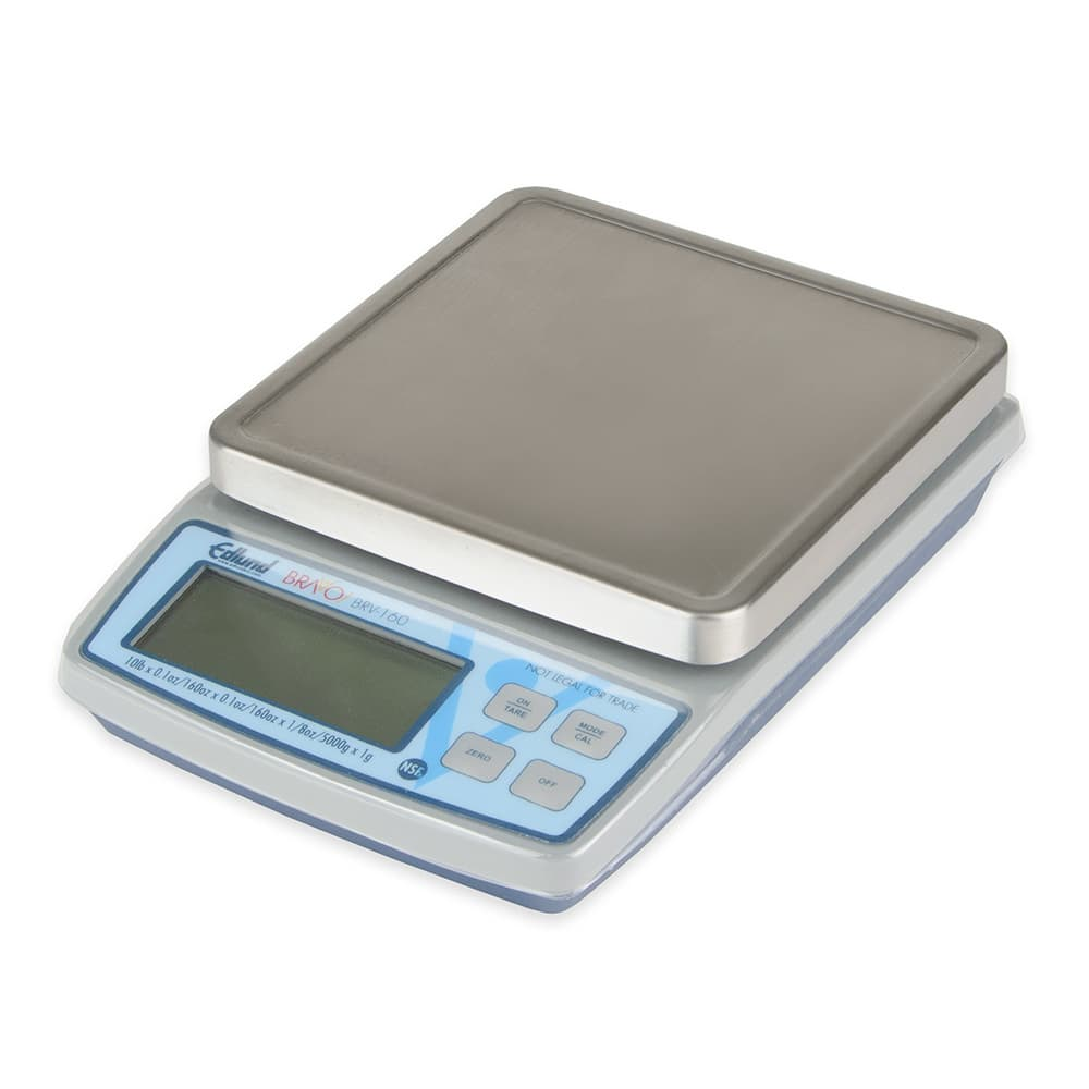 "Edlund BRV-160 10 lb Square Digital Scale w/ Removable Platform - 5.13"" x 5.13"", Stainless"