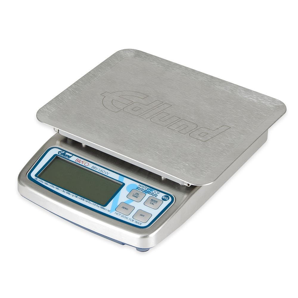"Edlund BRV-160W 10-lb Waterproof Digital Portion Control Scale - 5.63"" x 7"", Stainless, 115v"