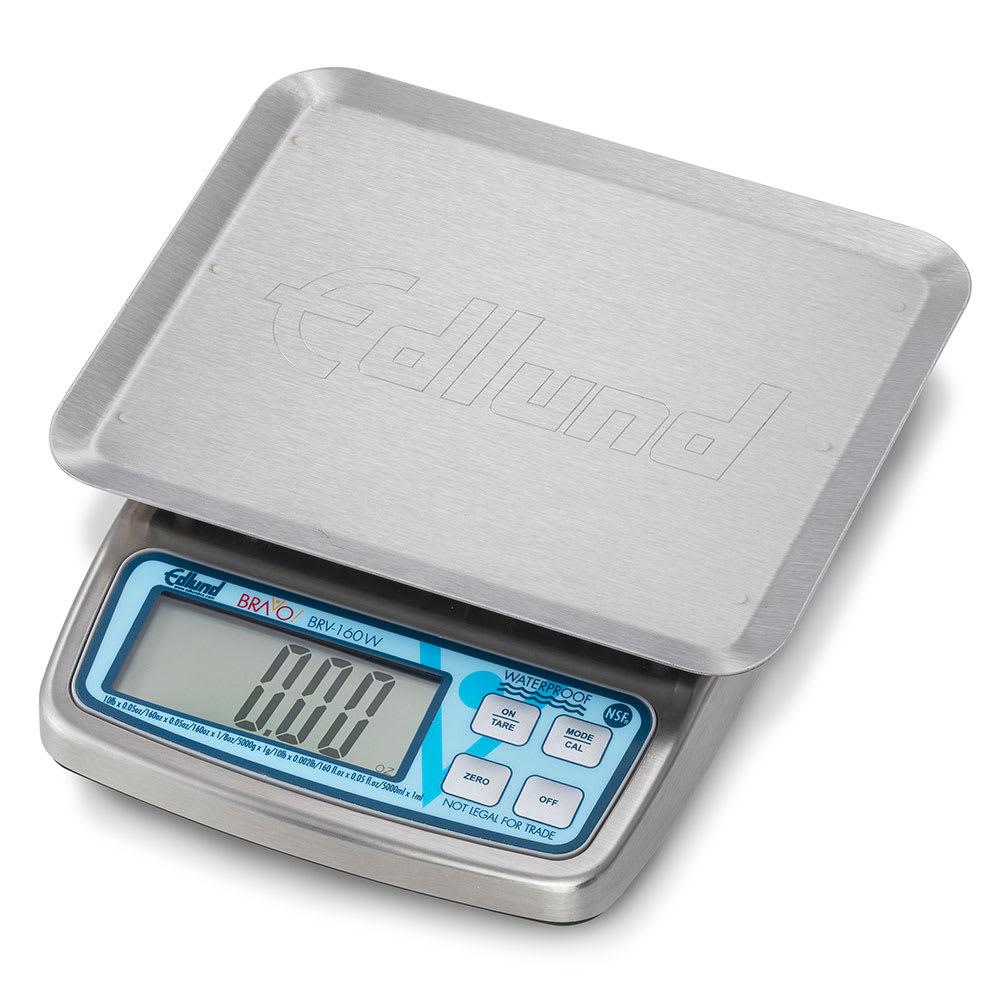 "Edlund BRV-160W 10-lb Waterproof Digital Portion Control Scale - 5.63"" x 7"", Stainless, 230v/1ph"