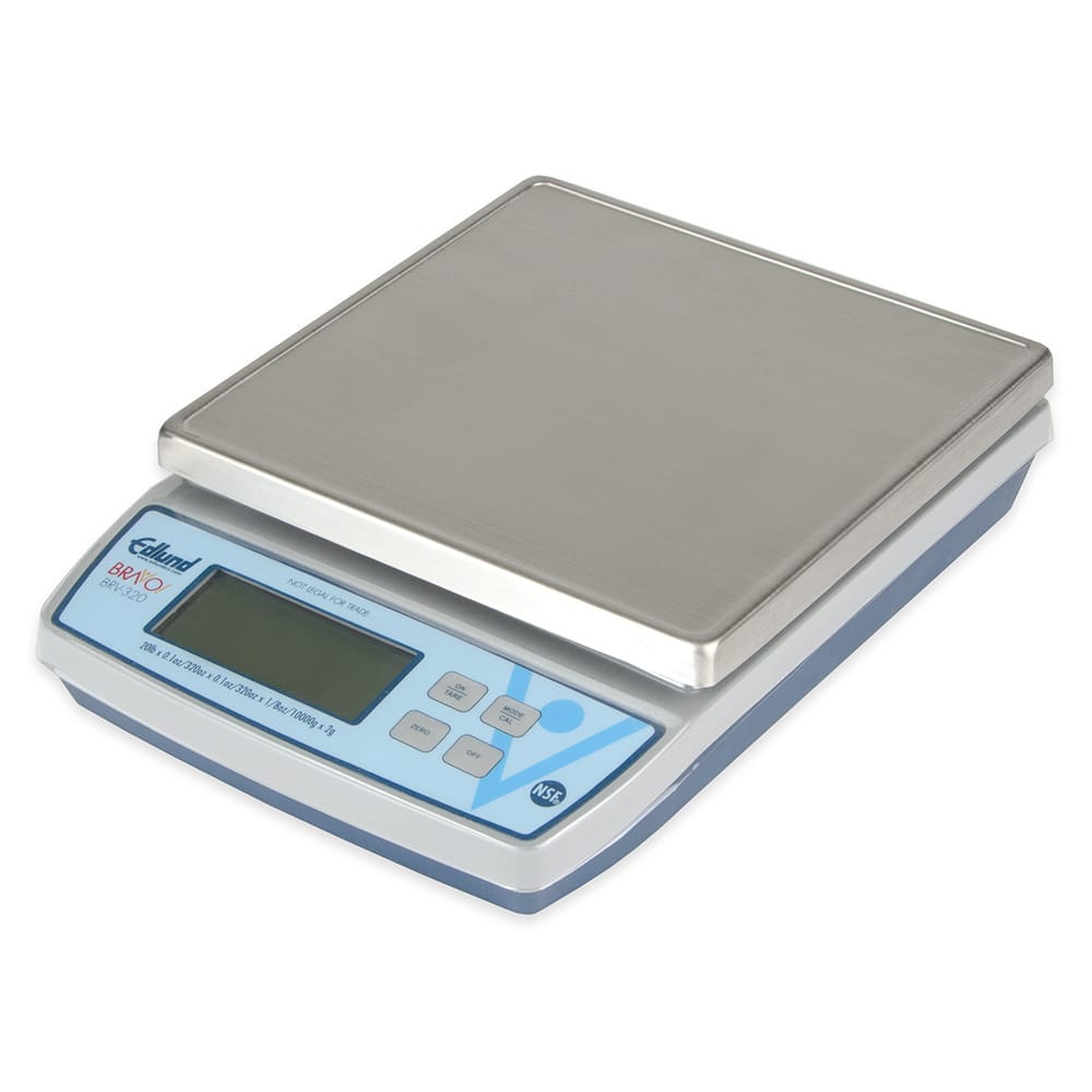 "Edlund BRV-320 20 lb Square Digital Scale w/ Removable Platform - 7"" x 7"", Stainless"