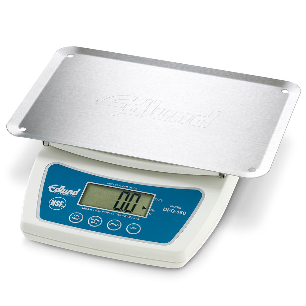 Edlund DFG-160OP Digital Scale w/ Large LCD Display & Automatic Shutoff, Plastic Body, Stainless Platform