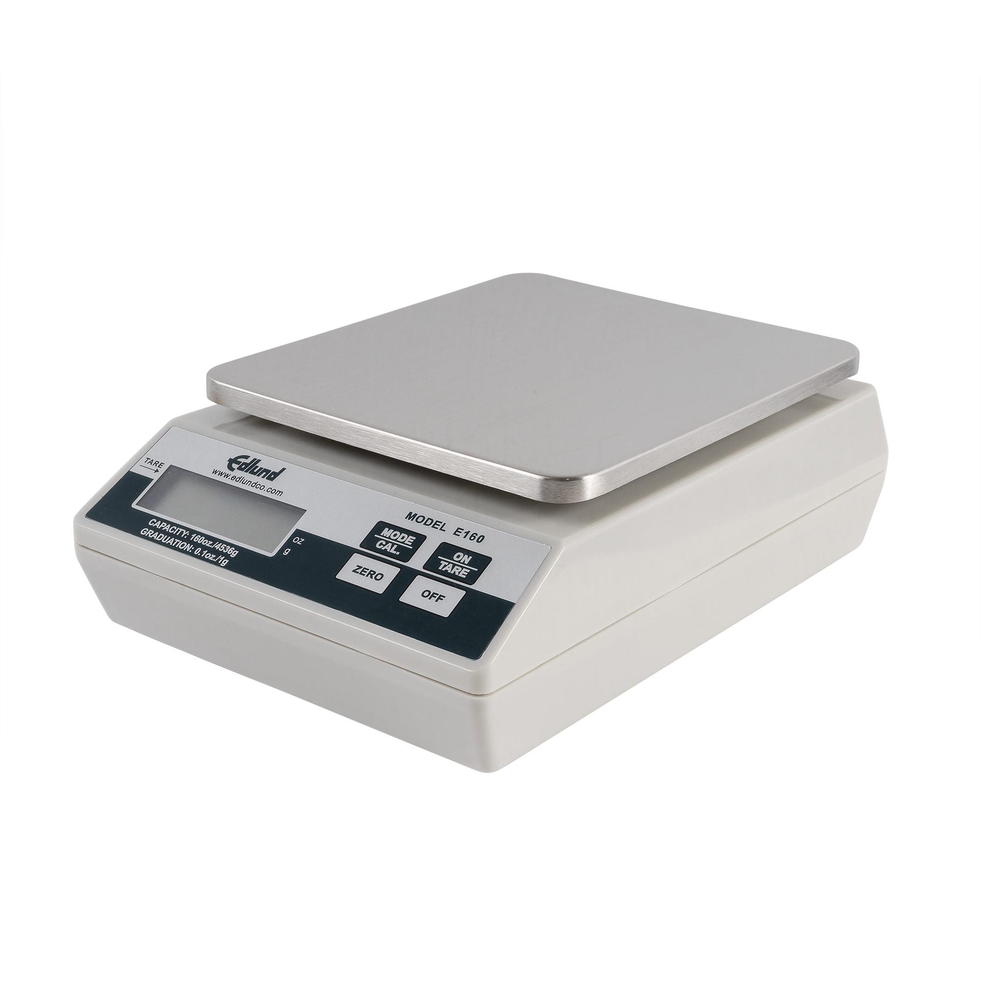 Edlund E-160 Digital Portion Scale, Auto Push Button Tare, 160 oz x 0.1 oz