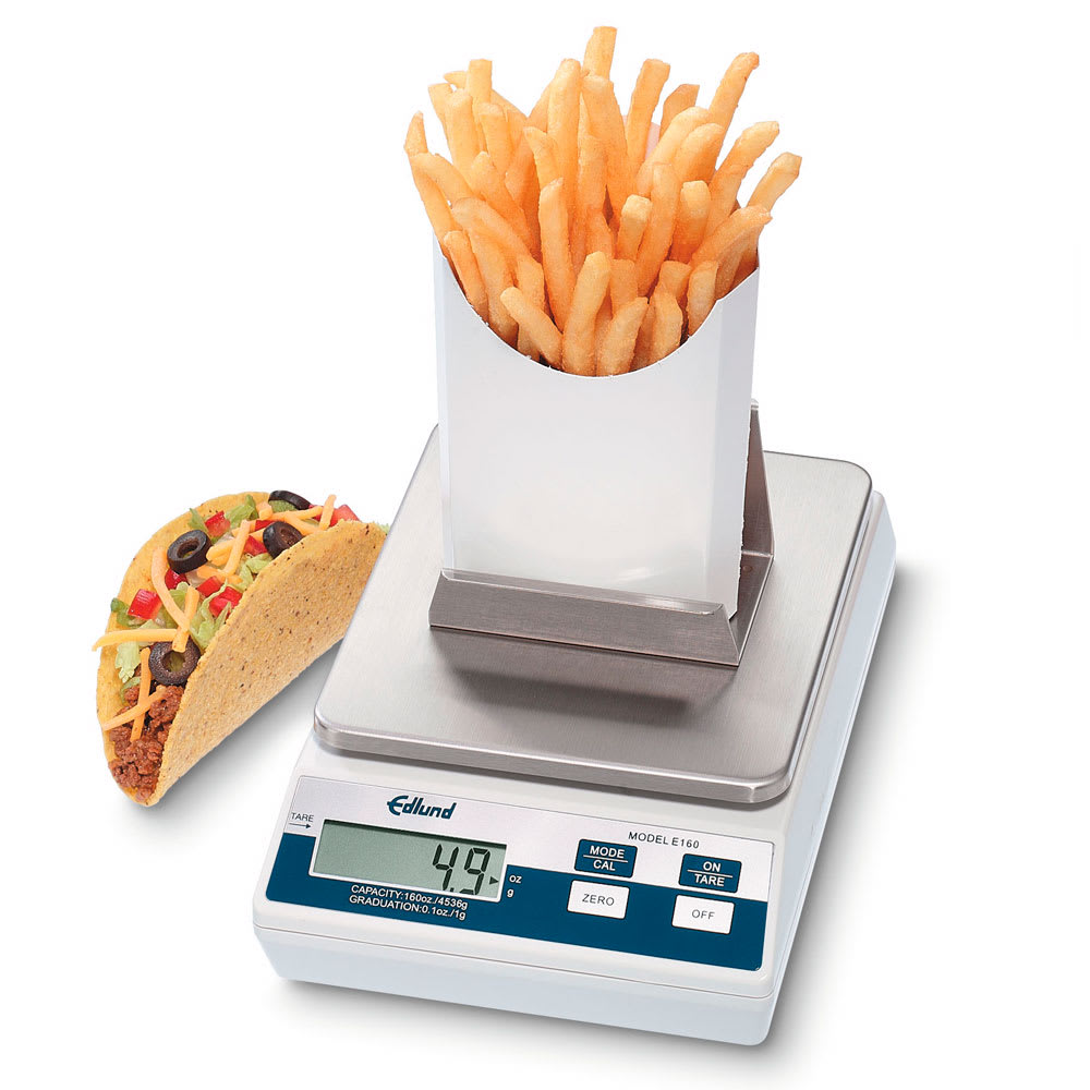 Edlund E-160 FF Counter Model Scale, French Fry Platform, Digital, 160 oz x .1 oz