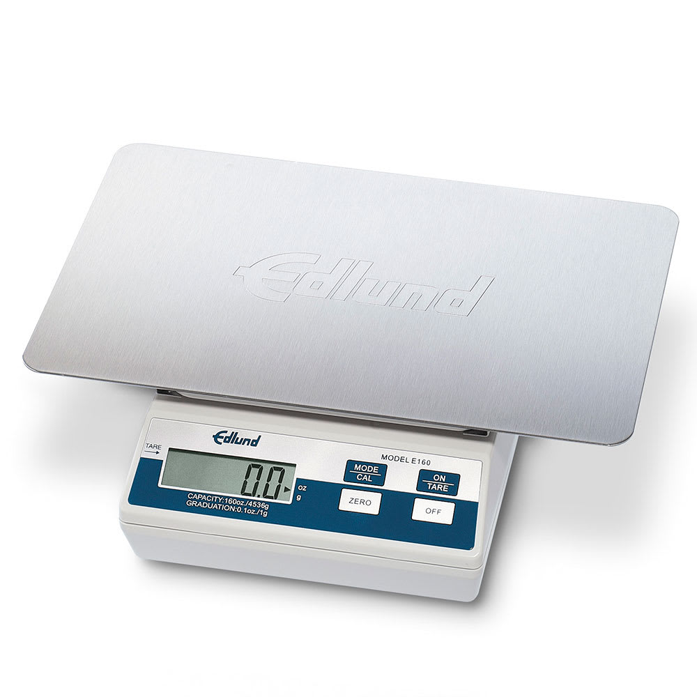 Edlund E-160 OP Digital Portion Scale, 160 oz x .1 oz, All Stainless Steel