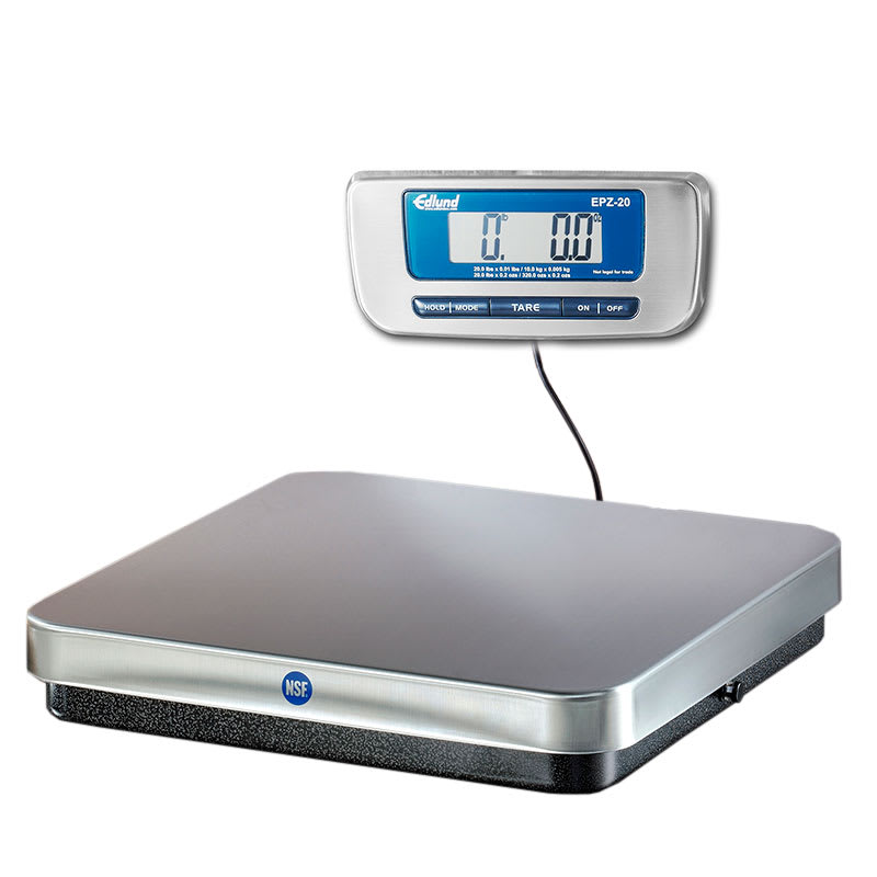 Edlund EPZ-20H 20 lb Digital Pizza Scale w/ Quick Disconnect Foot Tare, Stainless