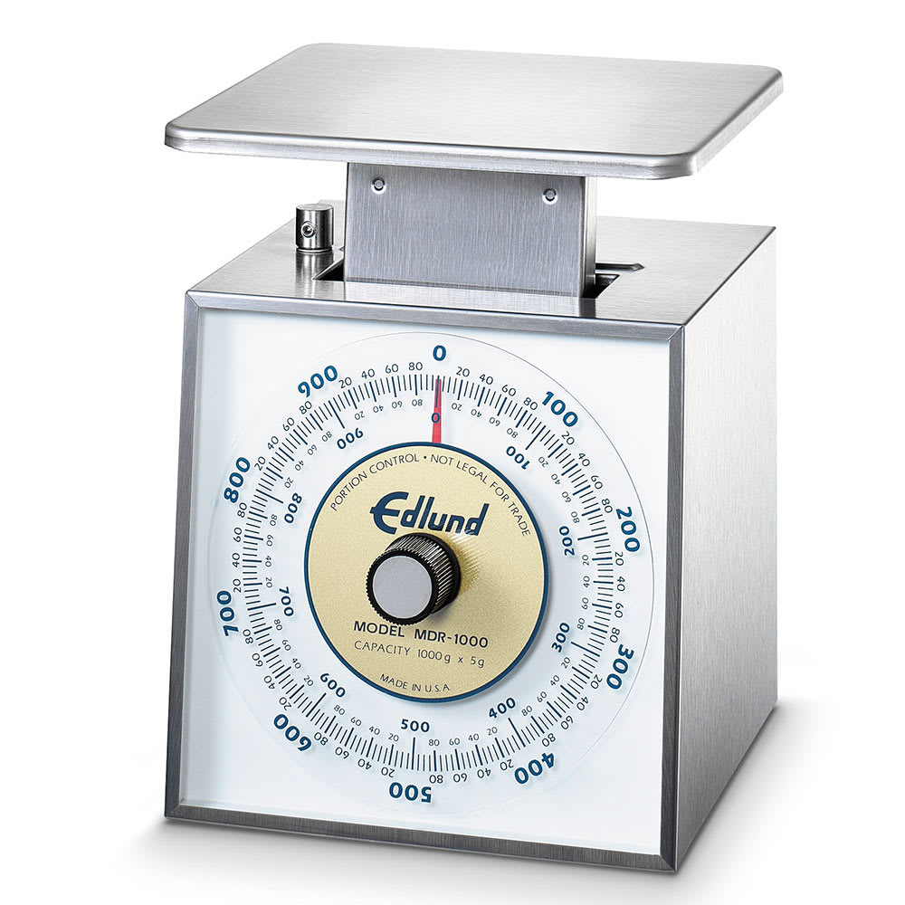 Edlund MDR-1000 Metric Portion Dial Type Scale, 1000 gm x 5 gm, Stainless Steel