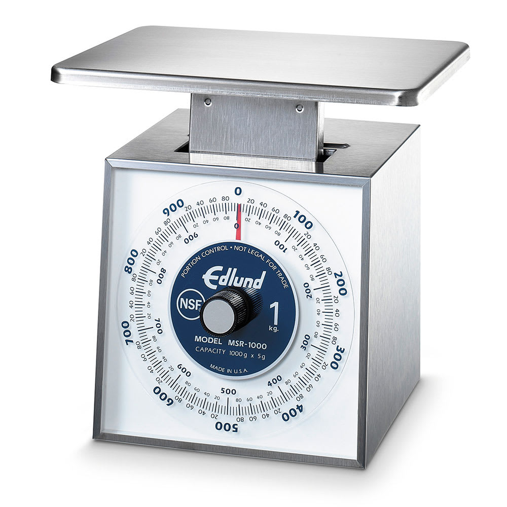 Edlund MSR-1000 OP Metric Portion Dial Type Scale, 1000 gm x 5 gm, Top Loading Model