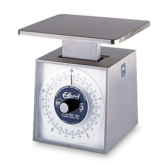 Edlund MSR-5000 Dial Type Scale, Metric Portion, 5000 gm x 20 gm, Rotating Dial
