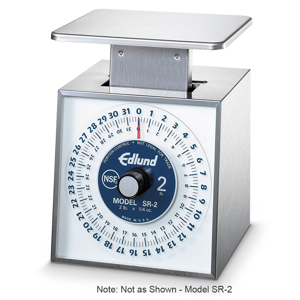 Edlund SR-10 Dial Type Portion Scale w/ Vertical Face, Rotating, Stainless