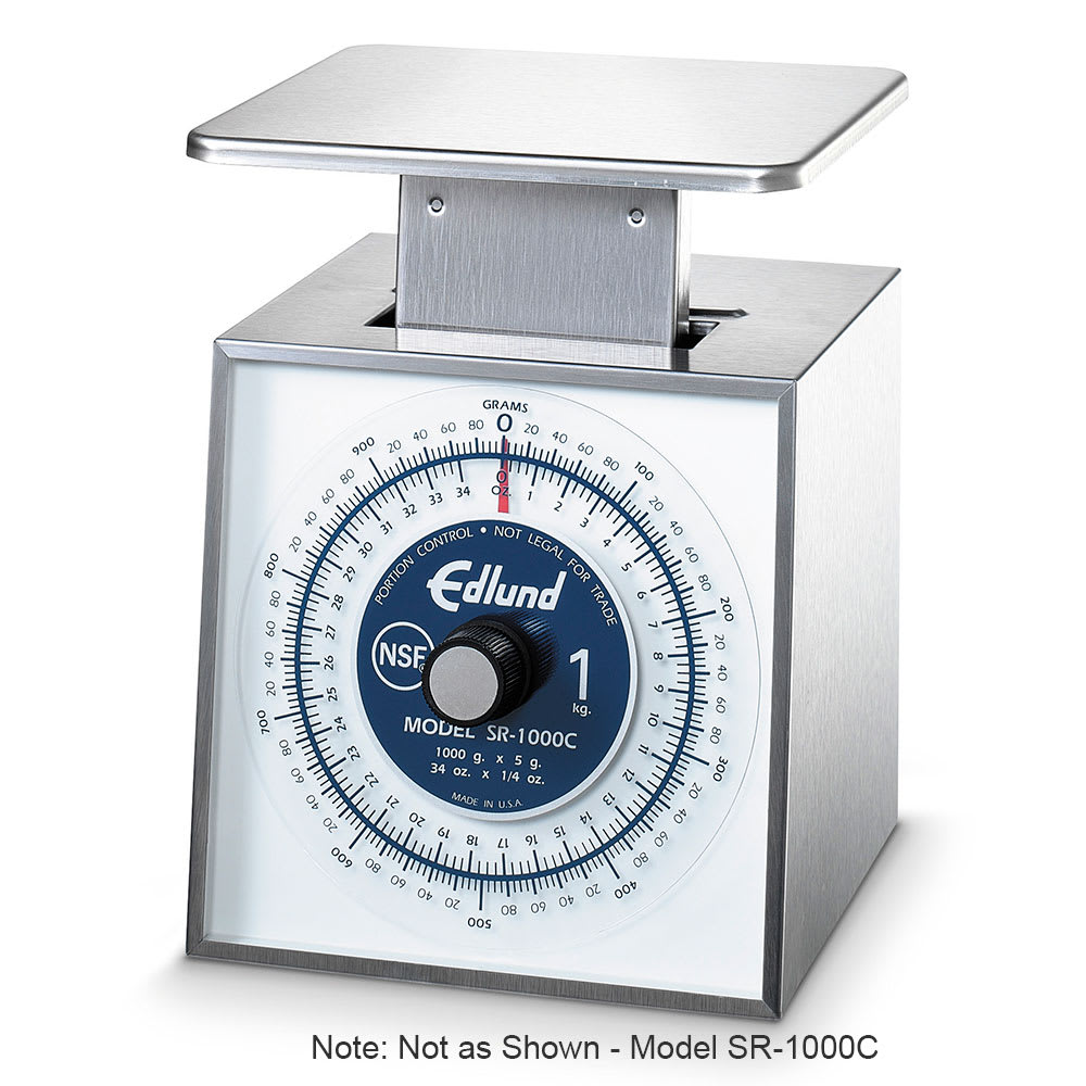 Edlund SR-11000C Rotating Dial Vertical Face Stainless Steel Scale, 25 lbs x 4 oz