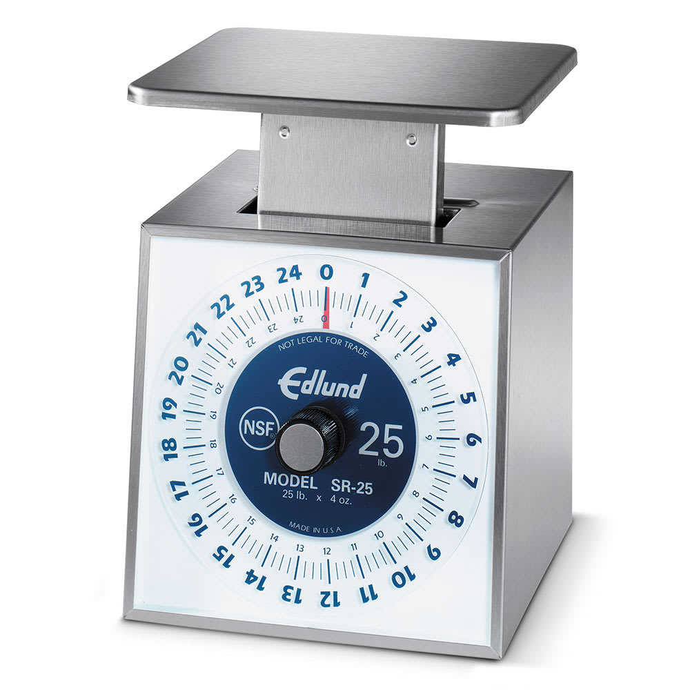 Edlund SR-25 Dial Type Portion Scale w/ Vertical Face, Rotating, Top Load, Stainless