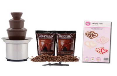 Sephra 10527 Select Milk Package w/ CF16, 4-lb Premium Milk Chocolate & Candy Mold