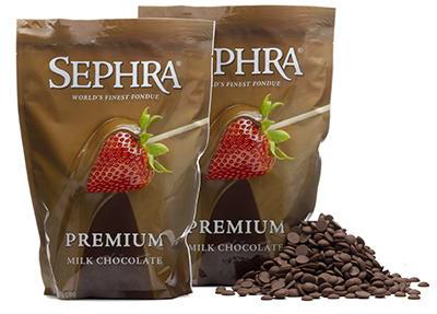 Sephra 21002 Belgian Milk Couverture Fondue Chocolate, (2) 2-lb Bags
