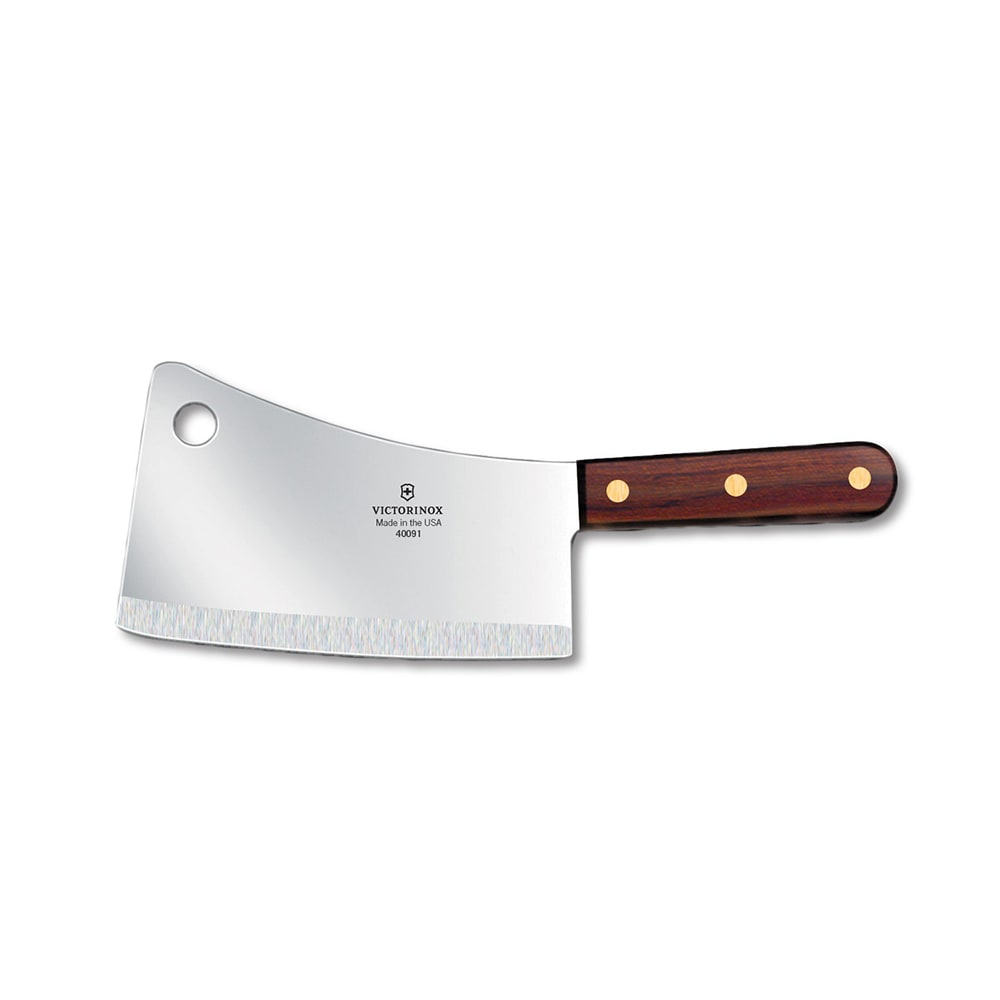 "Victorinox - Swiss Army 40091 1 lb Cleaver, 7x3"", Walnut Handle"