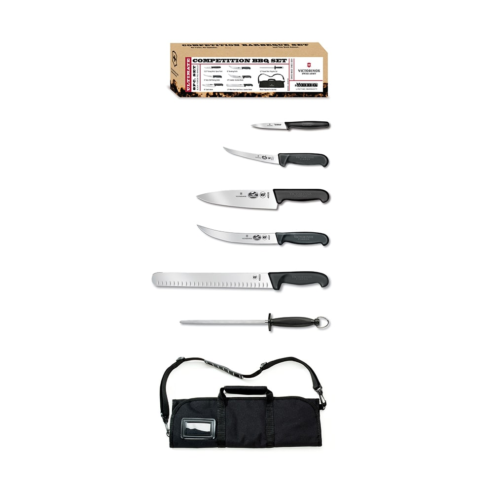 Victorinox - Swiss Army 46135US2 7-Piece Competition BBQ Knife Set ...