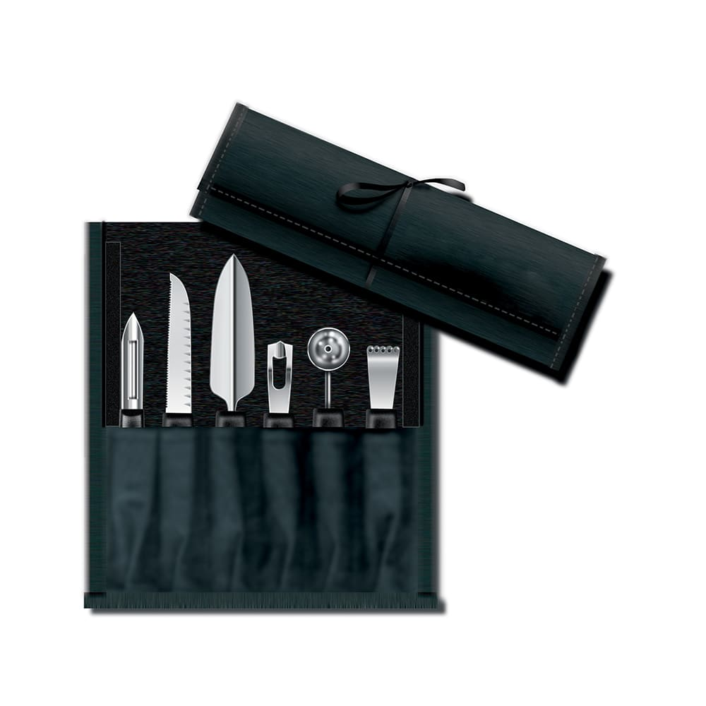 Victorinox - Swiss Army 46550 6-Piece Garnishing Kit w/ Black Polypropylene Handles