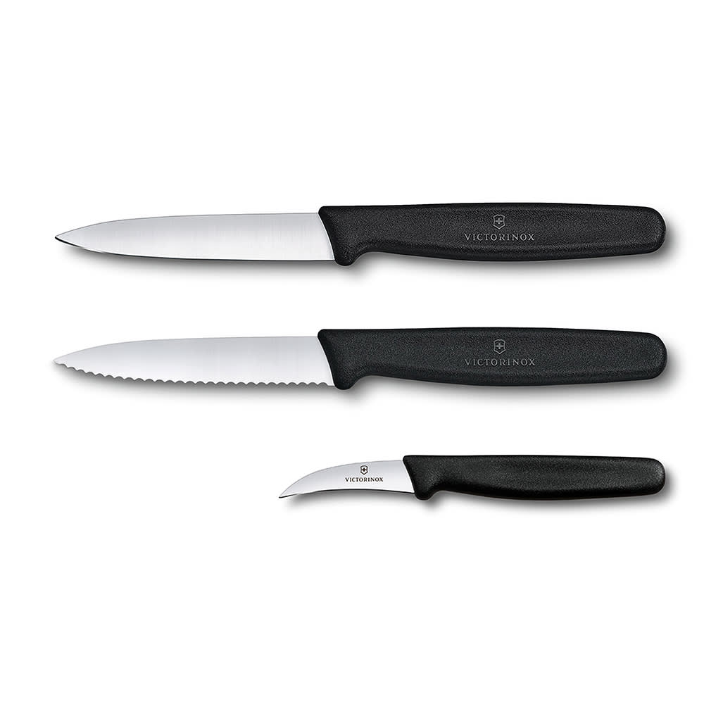 Victorinox   Swiss Army 48042 3 Piece Paring Knife Set W/ Polypropylene  Handles