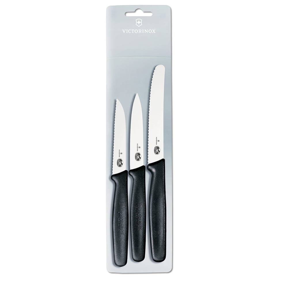 Victorinox - Swiss Army 49890 3 Piece Kitchen Set w/ Sheeps Foot Parer, Paring & Tomato Knife
